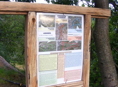 red de senderos de Labaniego