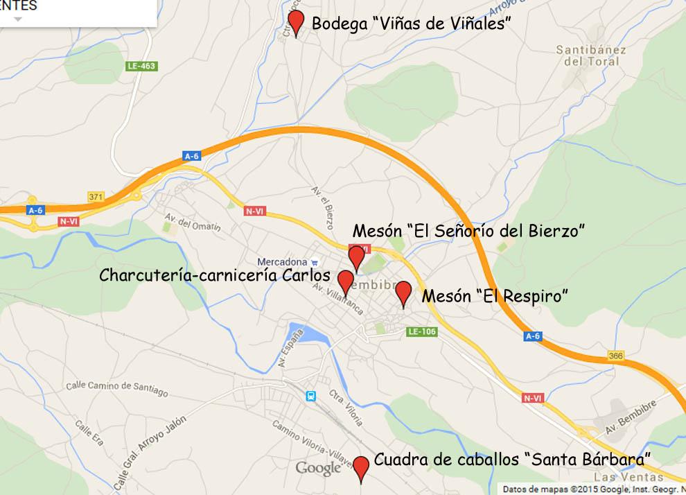 mapa ubicación socios que ofertan descuento