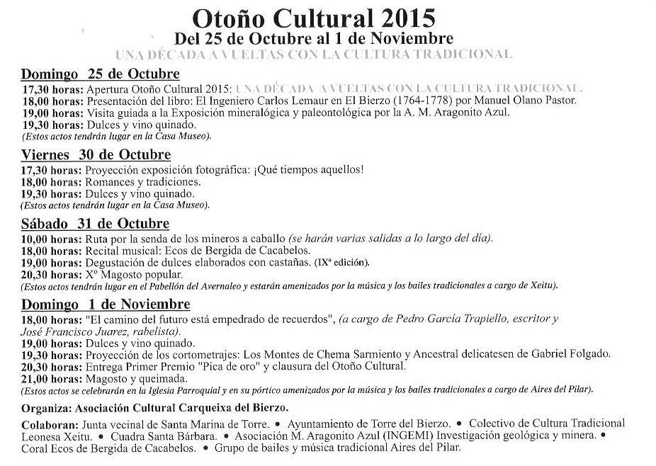 OTOÑO CULTURAL EN SANTA MARINA DE TORRE (2/2)